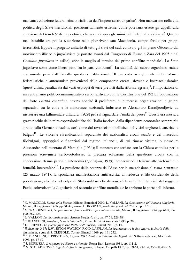 Anteprima della tesi: La Jugoslavia dal 1941 al 2000: tra esodi, scontri etnici e movimenti di popolazione, Pagina 3