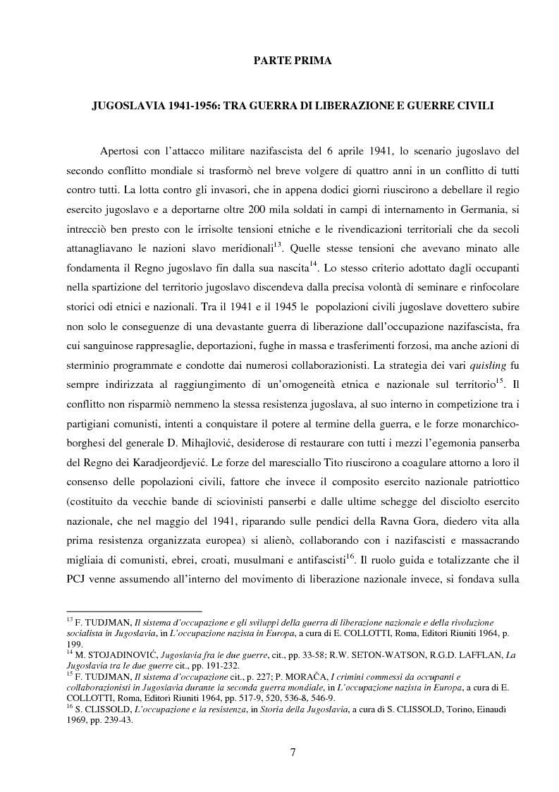 Anteprima della tesi: La Jugoslavia dal 1941 al 2000: tra esodi, scontri etnici e movimenti di popolazione, Pagina 4