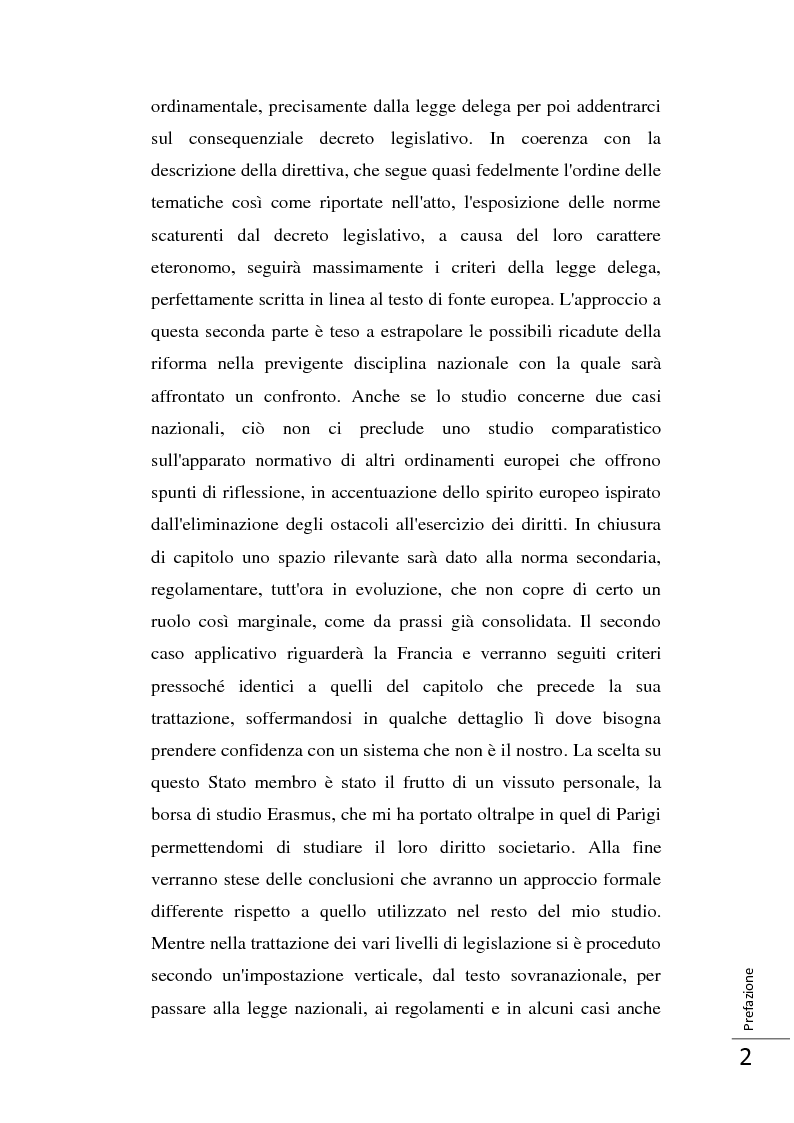 Anteprima della tesi: La Direttiva 2007/36/CE: un provvedimento contro l'apatia razionale dei mercati europei. Attuazione in Italia e in Francia., Pagina 3