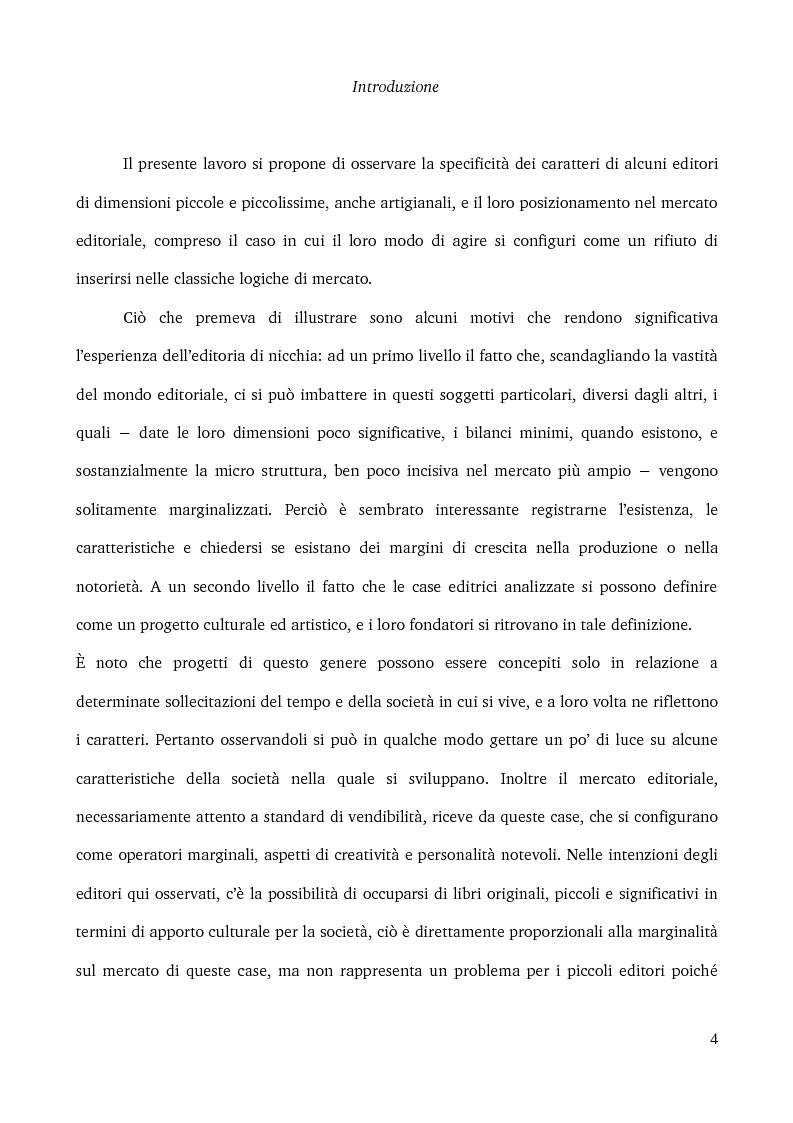 Anteprima della tesi: Specificità e posizionamento di editori di nicchia, Pagina 2