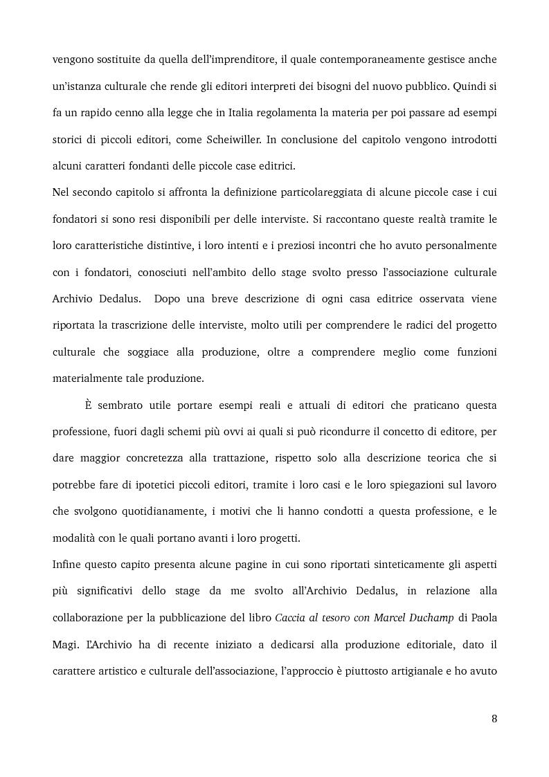 Anteprima della tesi: Specificità e posizionamento di editori di nicchia, Pagina 6