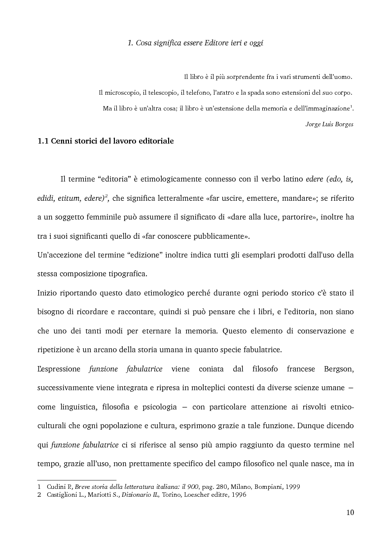 Anteprima della tesi: Specificità e posizionamento di editori di nicchia, Pagina 8