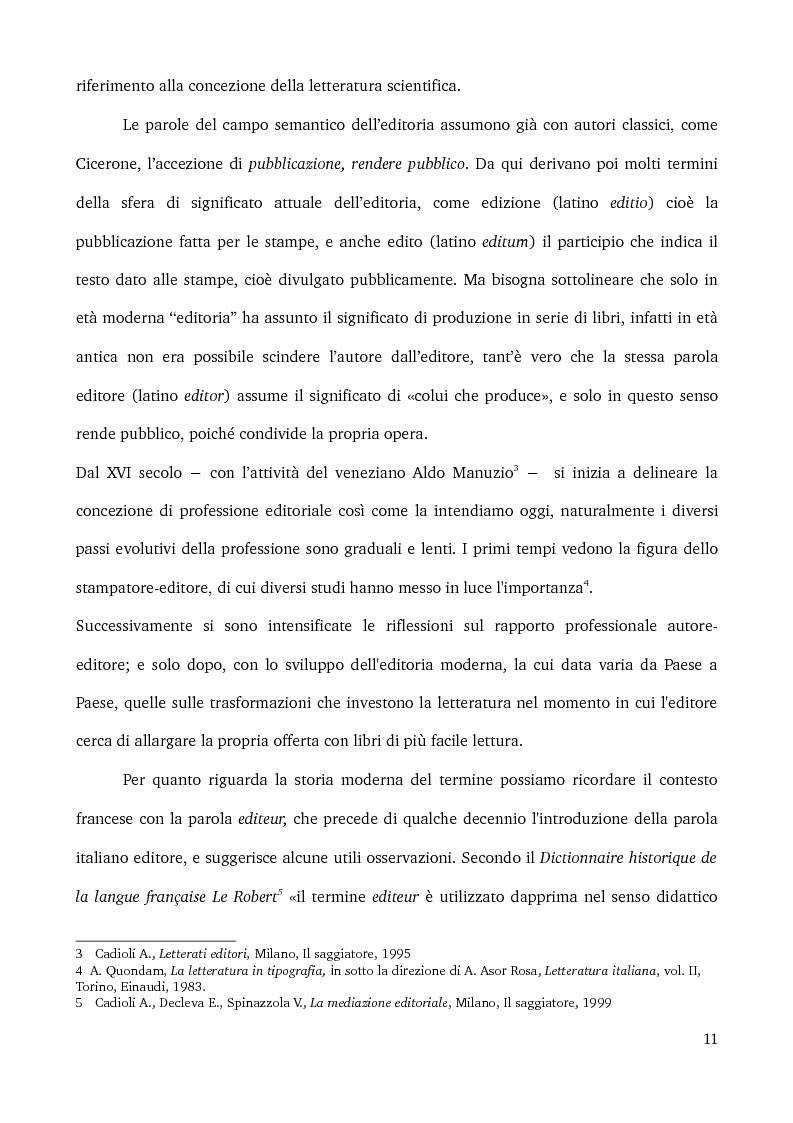 Anteprima della tesi: Specificità e posizionamento di editori di nicchia, Pagina 9