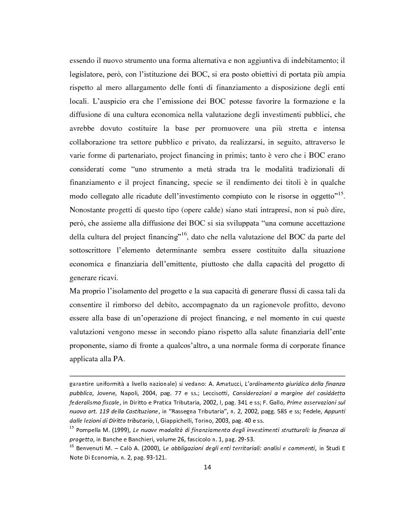 Anteprima della tesi: Il project financing come strumento di sviluppo del partenariato pubblico privato, Pagina 11