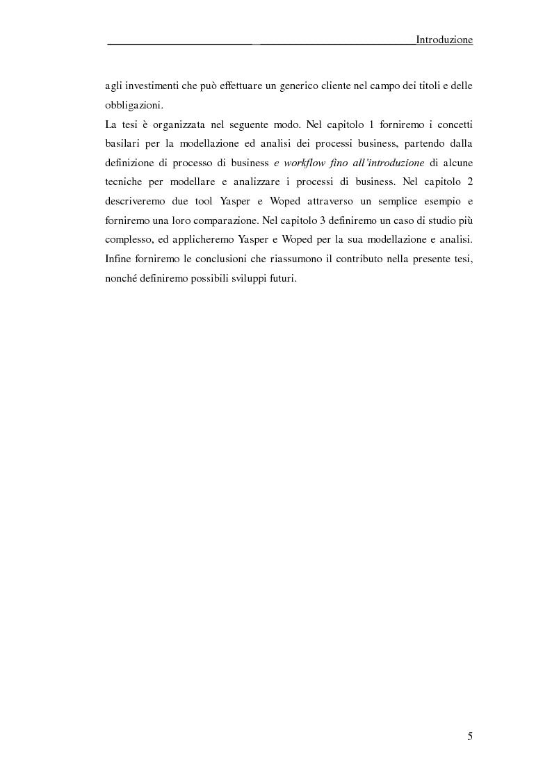 Anteprima della tesi: Un'applicazione di Yasper e Woped per la modellazione ed analisi di processi di business, Pagina 3