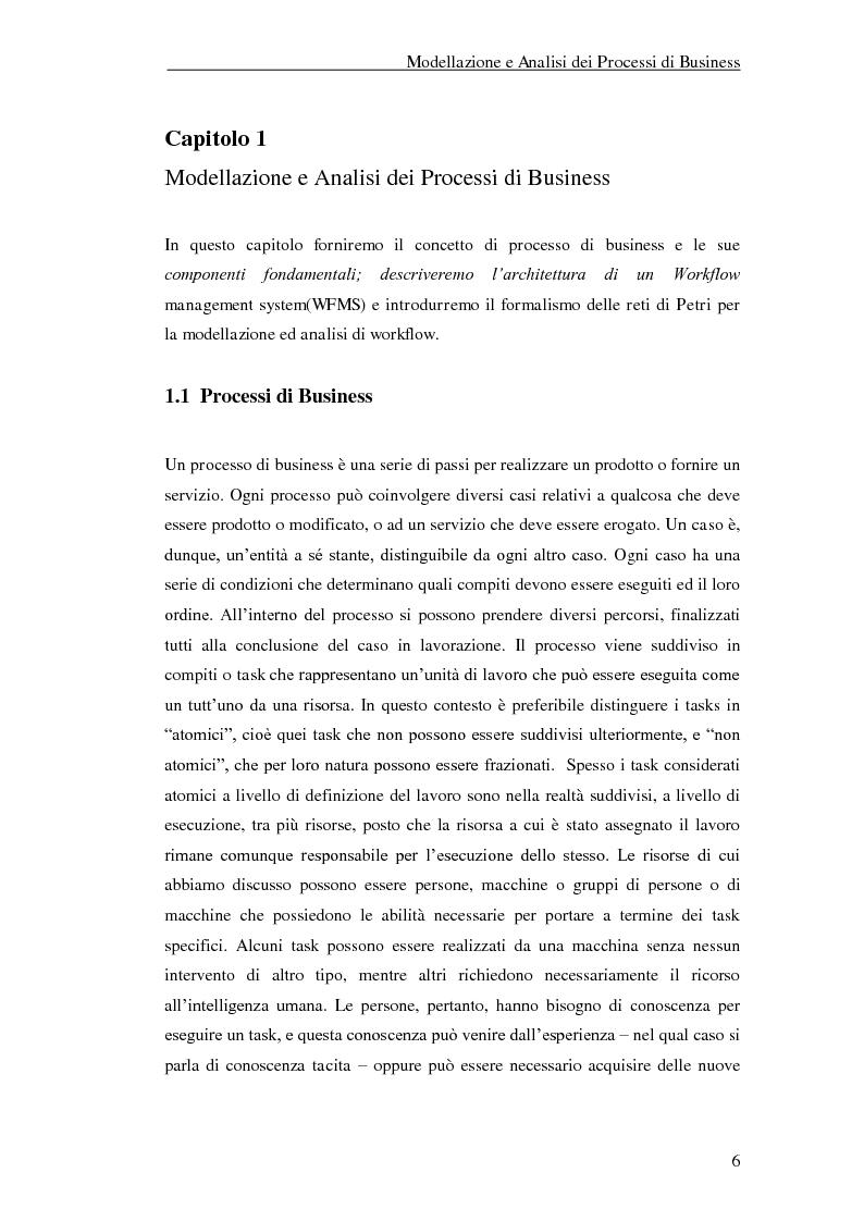 Anteprima della tesi: Un'applicazione di Yasper e Woped per la modellazione ed analisi di processi di business, Pagina 4