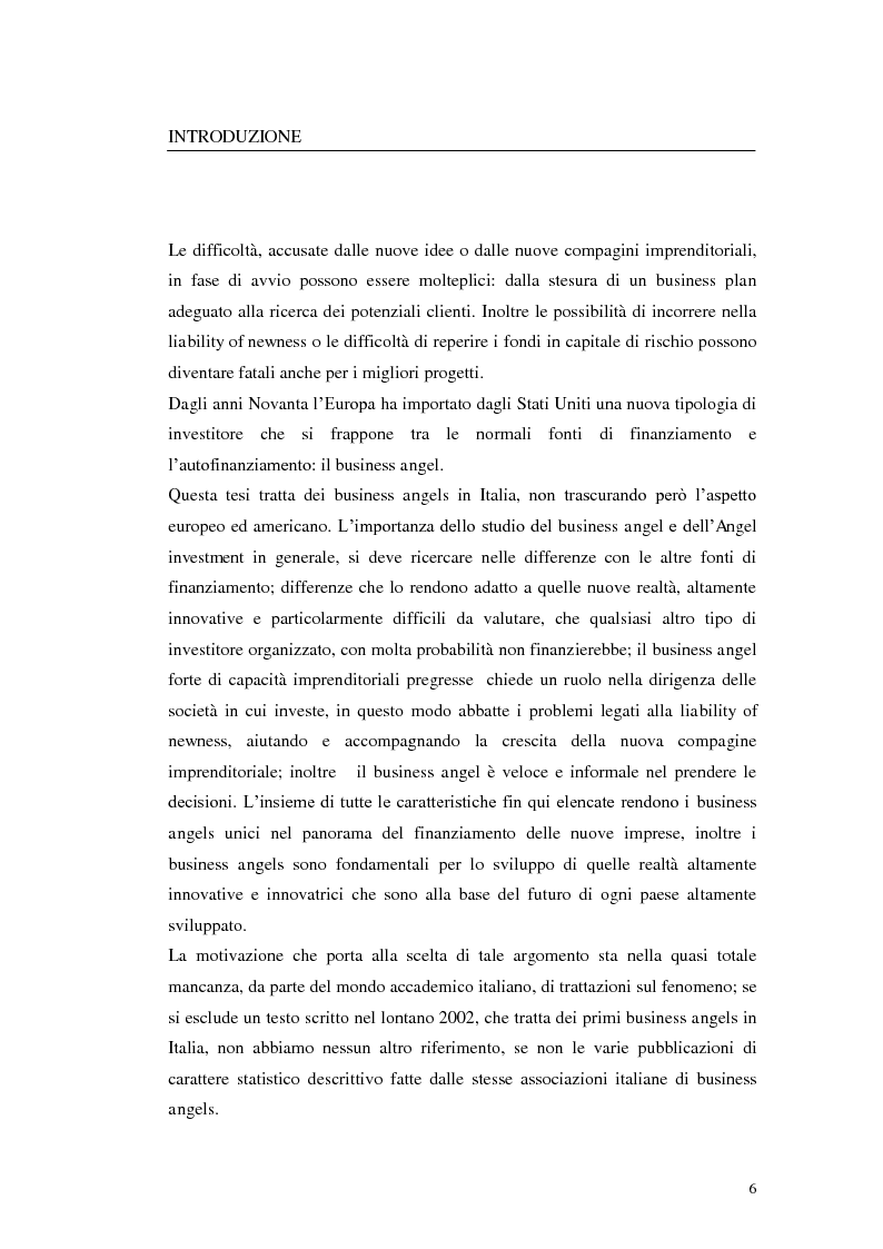 Anteprima della tesi: Caratteristiche ed evoluzioni dei business angels in Italia, Pagina 2