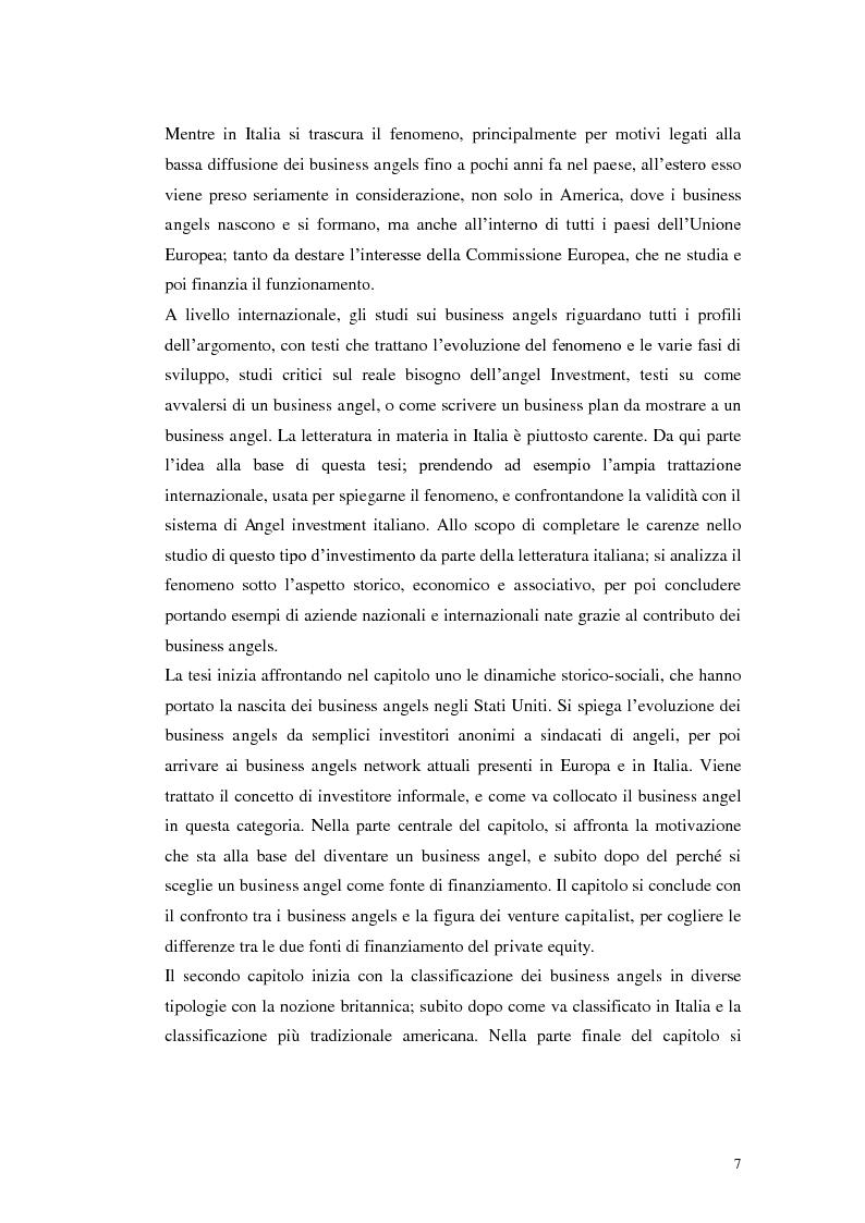 Anteprima della tesi: Caratteristiche ed evoluzioni dei business angels in Italia, Pagina 3