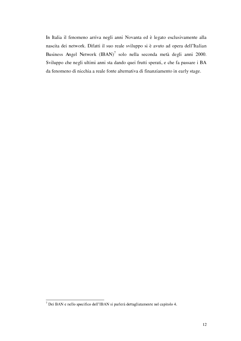 Anteprima della tesi: Caratteristiche ed evoluzioni dei business angels in Italia, Pagina 8