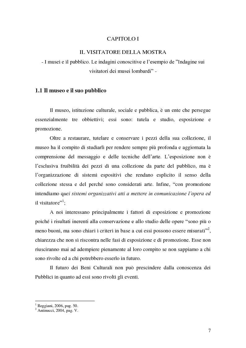 Anteprima della tesi: Il Pubblico del Castello dei Pico. Indagine sui Visitatori del Centro Espositivo della Mirandola, Pagina 4