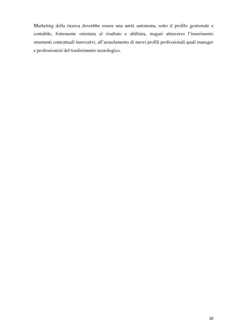 Anteprima della tesi: Verso la definizione di un nuovo modello di trasferimento tecnologico per le Università Italiane: dalla gestione dell'IPR al Marketing della Ricerca. Esperienze a confronto, Pagina 4