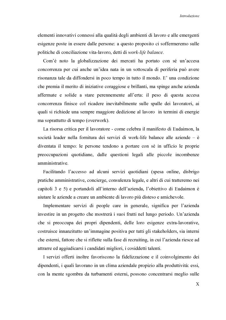 Anteprima della tesi: Le nuove frontiere nella motivazione delle risorse umane: il progetto People Care nel caso Nokia-Eudaimon, Pagina 7