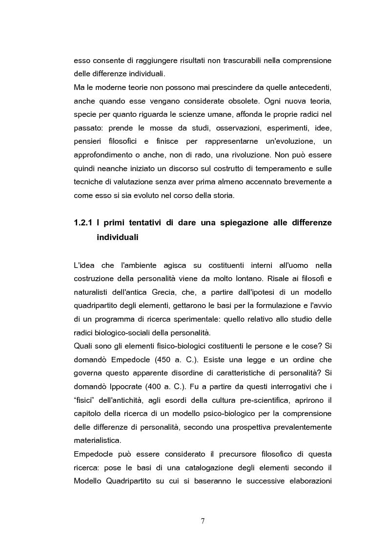 Anteprima della tesi: Temperamento e personalità nell'adulto. Proprietà psicometriche dell'Adult Temperament Questionnaire (ATQ), Pagina 4