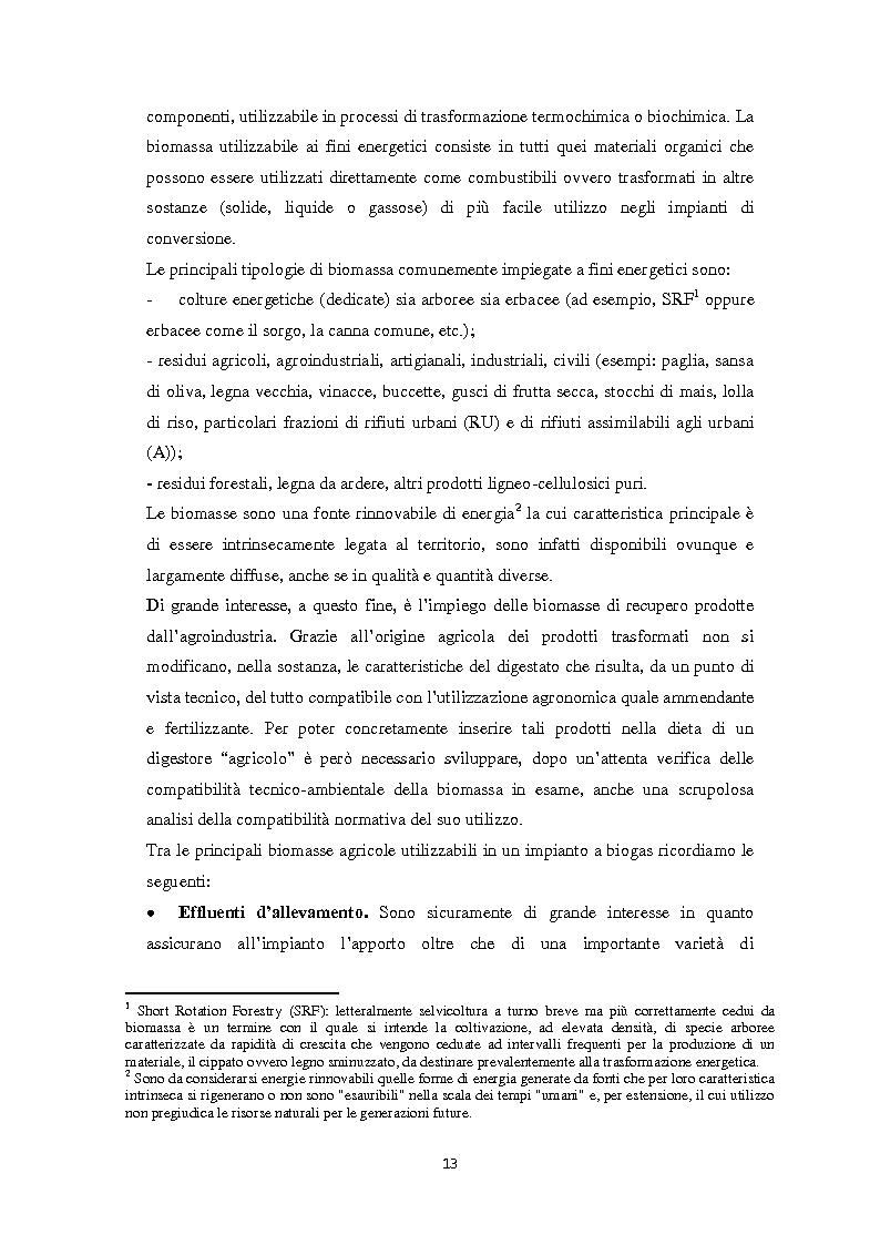 Anteprima della tesi: Biogas: tecnologie, incentivi, redditività ed impatto territoriale., Pagina 10