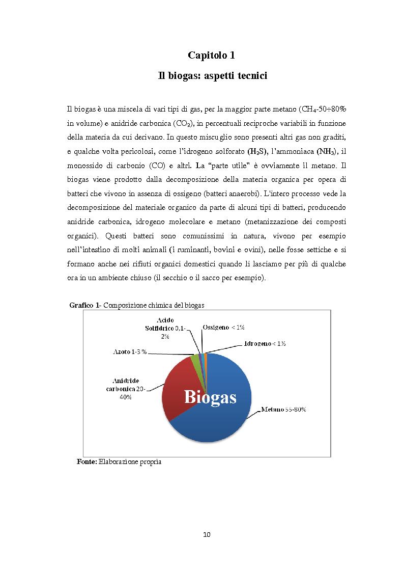 Anteprima della tesi: Biogas: tecnologie, incentivi, redditività ed impatto territoriale., Pagina 7