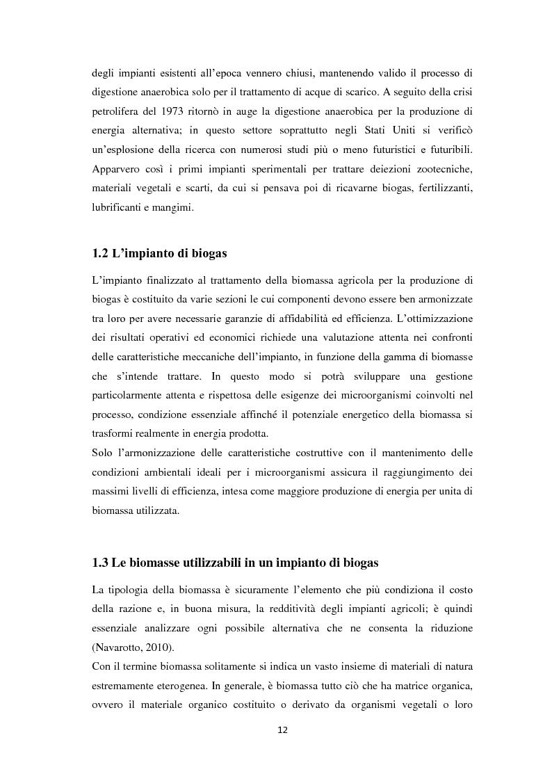 Anteprima della tesi: Biogas: tecnologie, incentivi, redditività ed impatto territoriale., Pagina 9