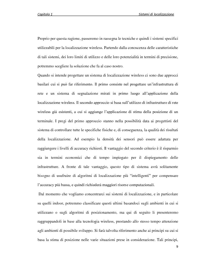 Anteprima della tesi: Localizzazione wireless in ambienti indoor per assistenza al parcheggio. Architettura di servizio e caratterizzazione statistica dell'ambiente elettromagnetico., Pagina 10