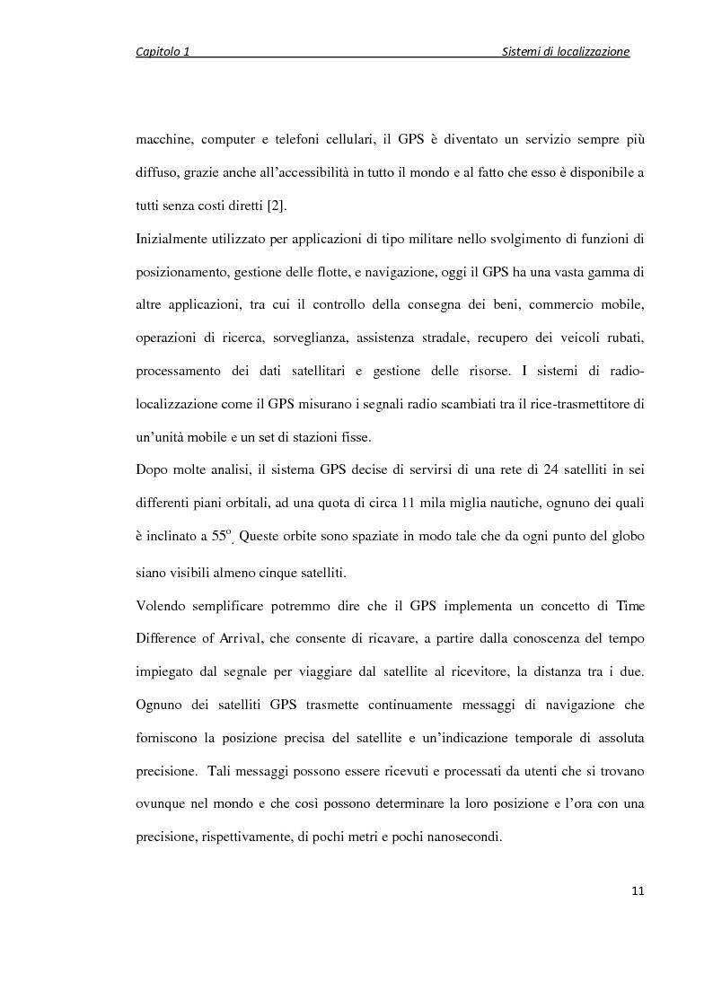 Anteprima della tesi: Localizzazione wireless in ambienti indoor per assistenza al parcheggio. Architettura di servizio e caratterizzazione statistica dell'ambiente elettromagnetico., Pagina 12