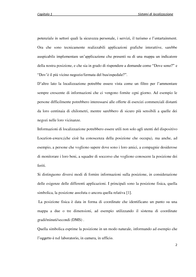 Anteprima della tesi: Localizzazione wireless in ambienti indoor per assistenza al parcheggio. Architettura di servizio e caratterizzazione statistica dell'ambiente elettromagnetico., Pagina 3