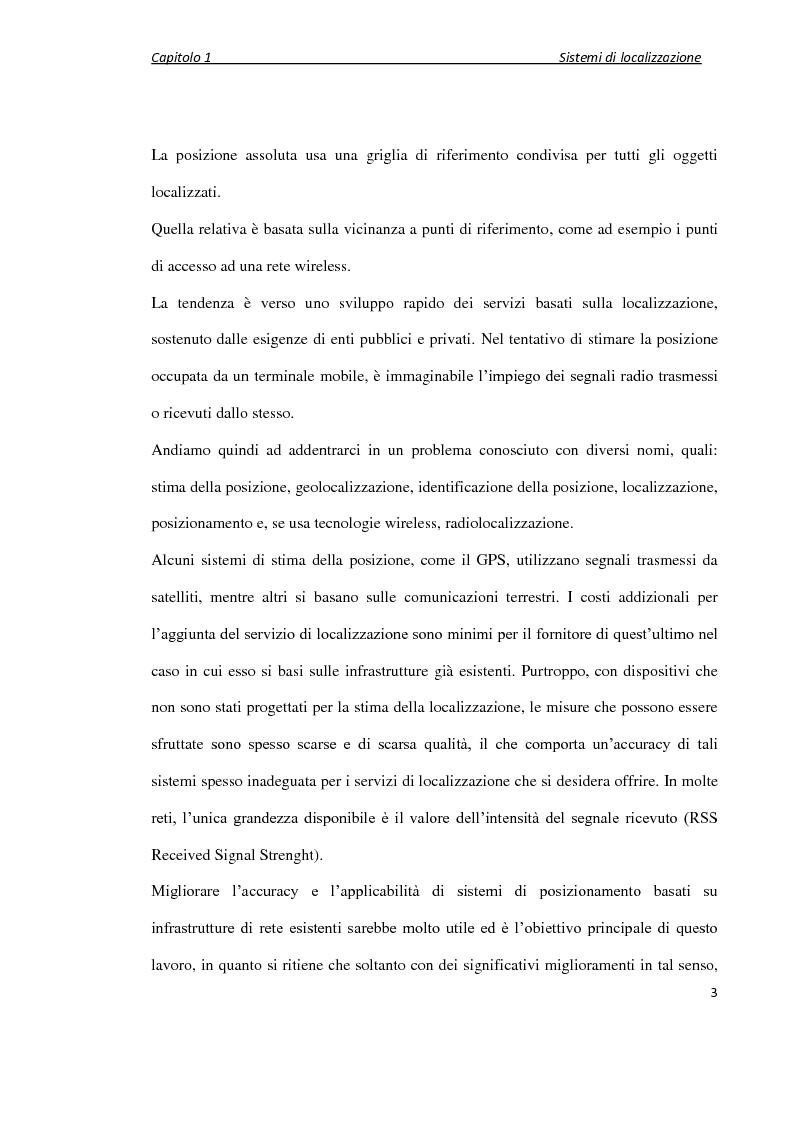 Anteprima della tesi: Localizzazione wireless in ambienti indoor per assistenza al parcheggio. Architettura di servizio e caratterizzazione statistica dell'ambiente elettromagnetico., Pagina 4