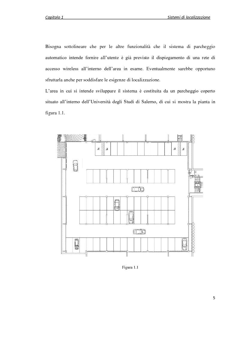 Anteprima della tesi: Localizzazione wireless in ambienti indoor per assistenza al parcheggio. Architettura di servizio e caratterizzazione statistica dell'ambiente elettromagnetico., Pagina 6