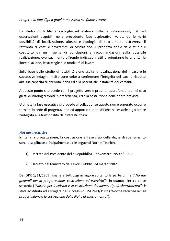 Anteprima della tesi: Progetto di una diga a gravità massiccia sul fiume Tevere, Pagina 11