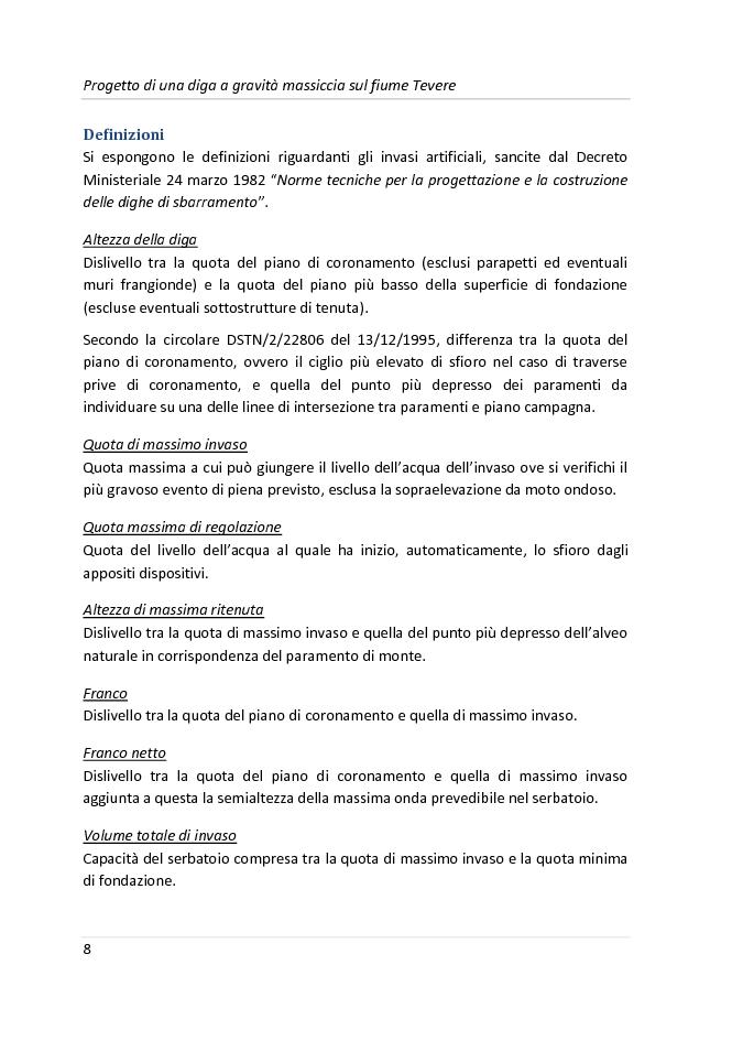 Anteprima della tesi: Progetto di una diga a gravità massiccia sul fiume Tevere, Pagina 5
