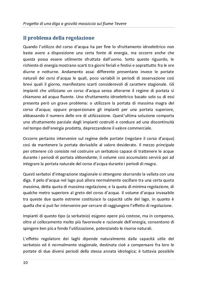 Anteprima della tesi: Progetto di una diga a gravità massiccia sul fiume Tevere, Pagina 7