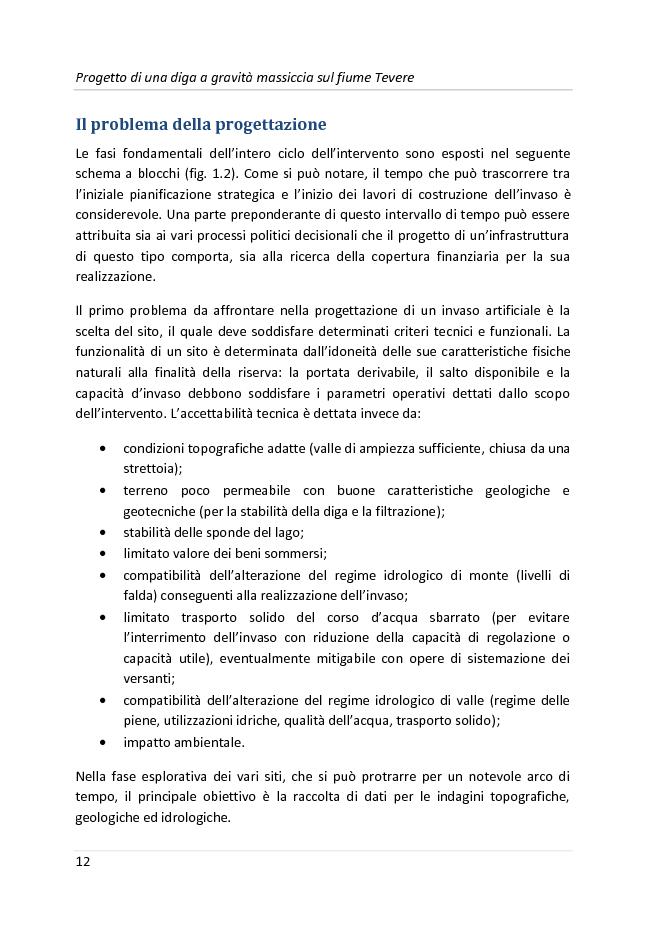 Anteprima della tesi: Progetto di una diga a gravità massiccia sul fiume Tevere, Pagina 9