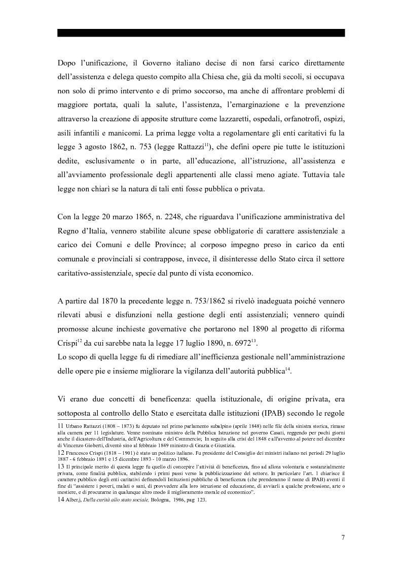 Anteprima della tesi: I servizi sociali: caratteri e profilo giuridico, Pagina 4