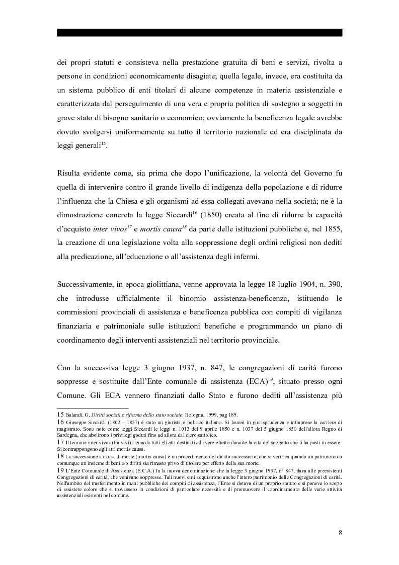 Anteprima della tesi: I servizi sociali: caratteri e profilo giuridico, Pagina 5