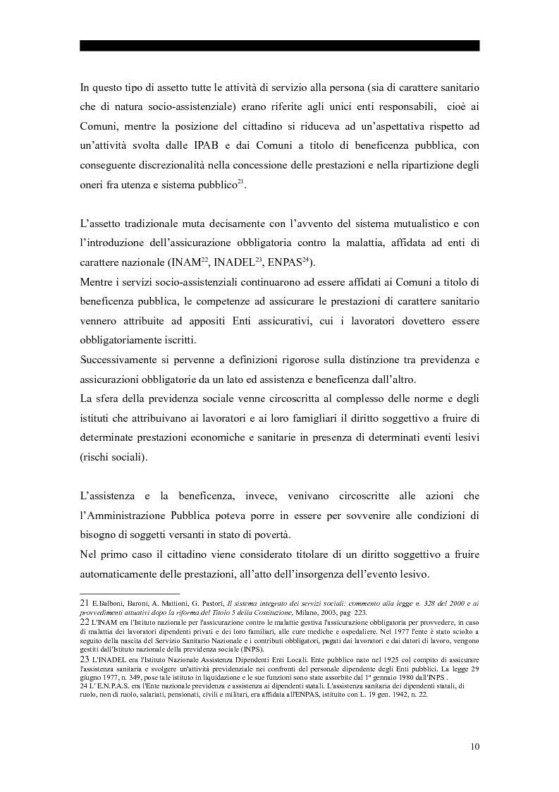 Anteprima della tesi: I servizi sociali: caratteri e profilo giuridico, Pagina 7
