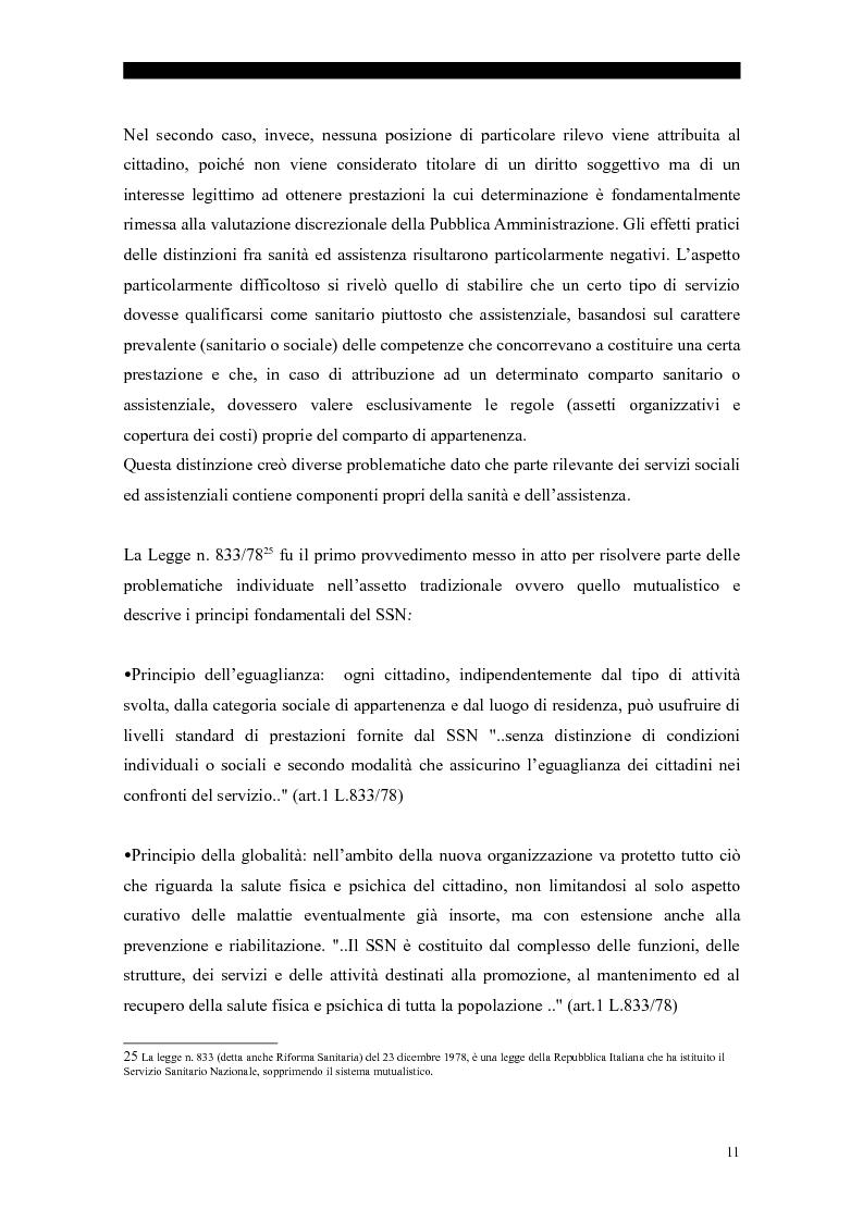 Anteprima della tesi: I servizi sociali: caratteri e profilo giuridico, Pagina 8