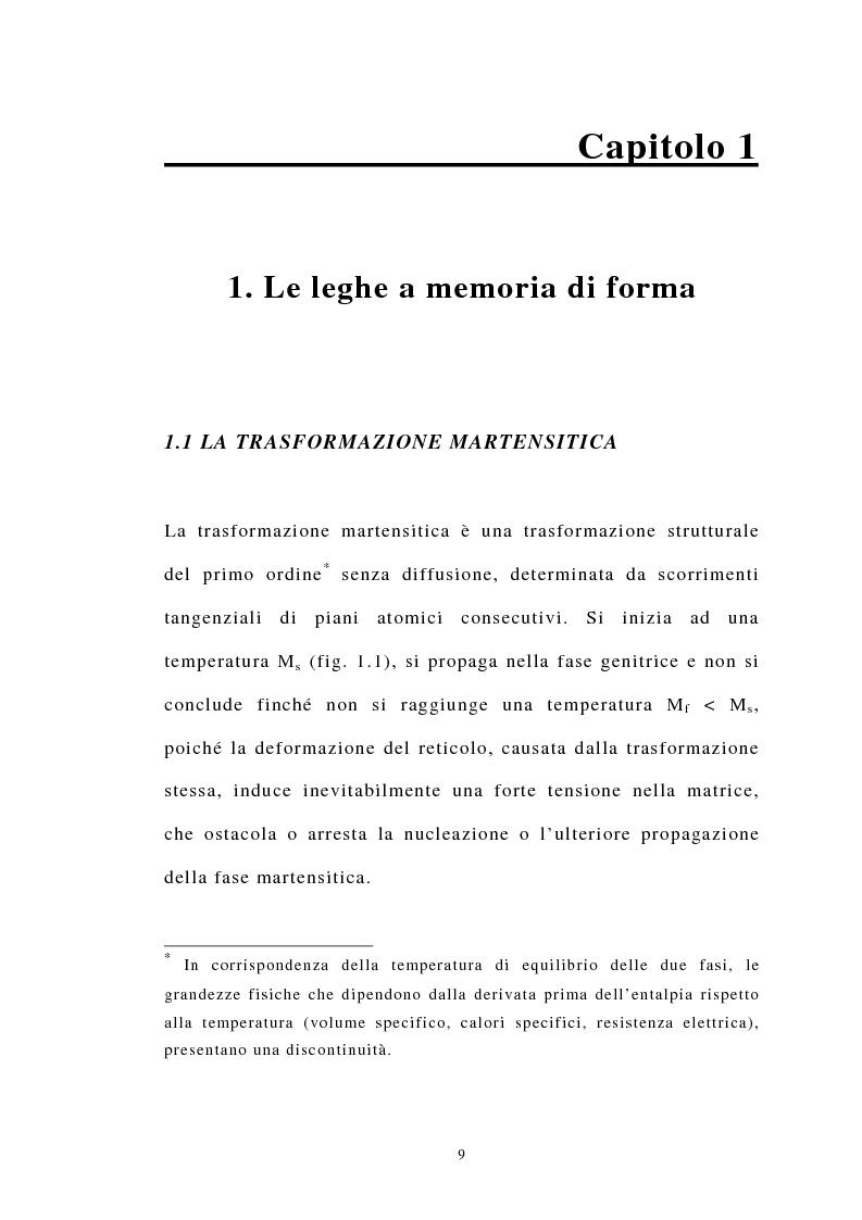 Anteprima della tesi: Studio Sperimentale della trasformazione martensitica diretta e inversa della lega a memoria di forma Cu83 Al13 Ni4, Pagina 2