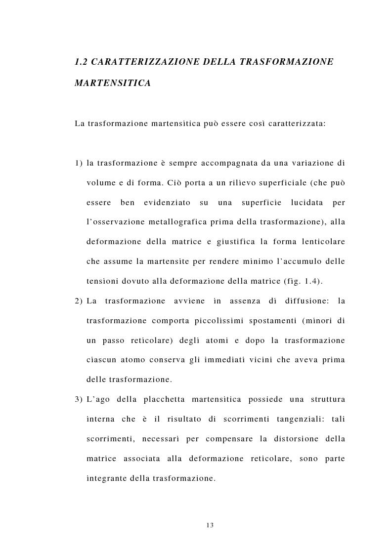 Anteprima della tesi: Studio Sperimentale della trasformazione martensitica diretta e inversa della lega a memoria di forma Cu83 Al13 Ni4, Pagina 6