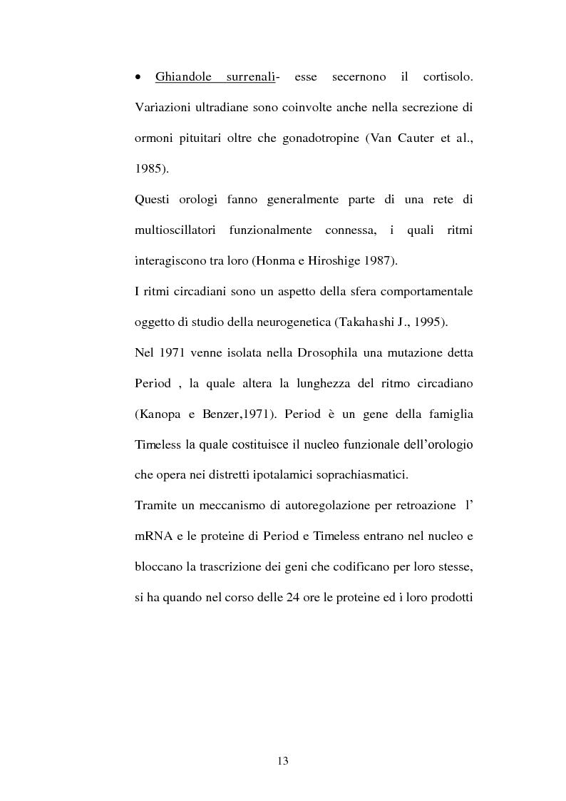 Anteprima della tesi: Ritmi ultradiani e attenzione sostenuta in compiti in modalità visiva, Pagina 10