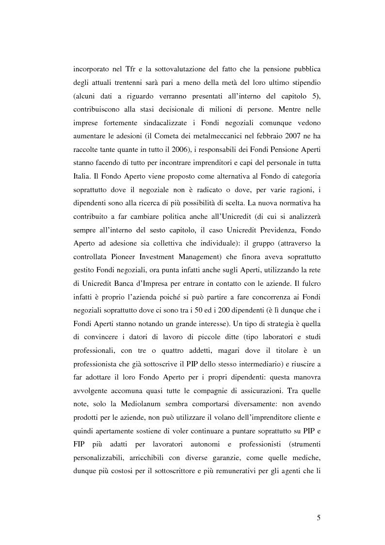 Anteprima della tesi: La Previdenza Complementare: mercato italiano e confronti internazionali, Pagina 6