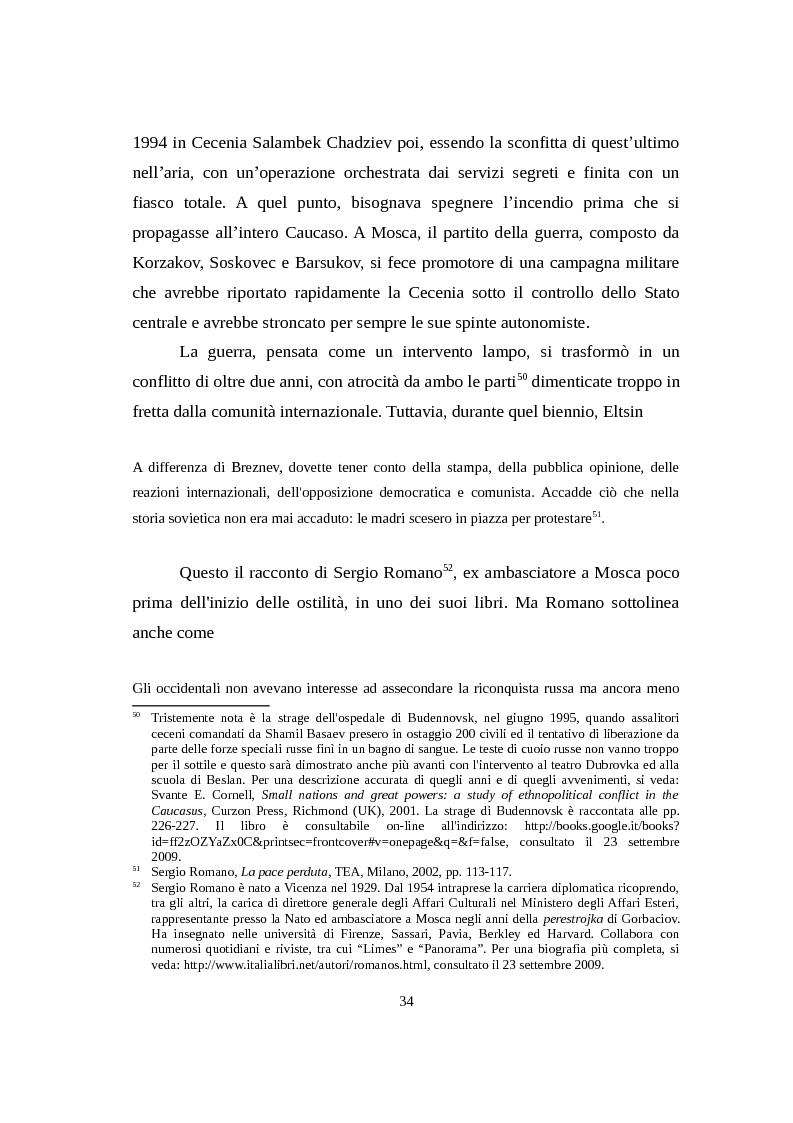 Anteprima della tesi: La Russia di Putin attraverso la stampa italiana (2000 - 2007), Pagina 5