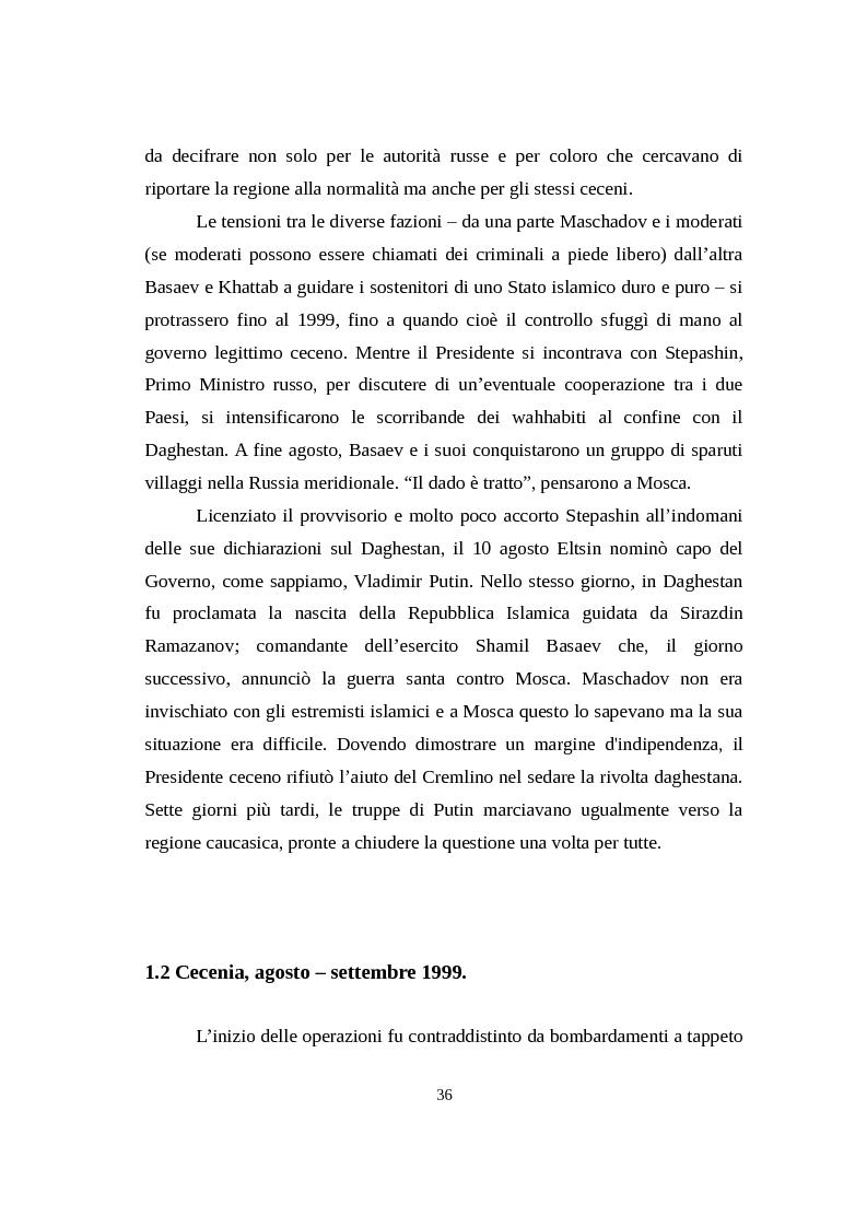 Anteprima della tesi: La Russia di Putin attraverso la stampa italiana (2000 - 2007), Pagina 7