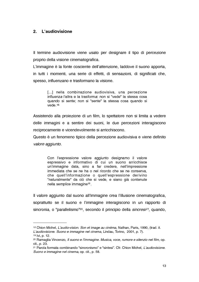 Anteprima della tesi: Il rumore nei film di Roman Polanski, Pagina 7