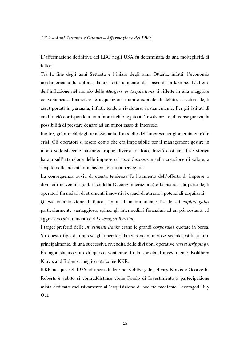Anteprima della tesi: Il Leveraged Buy Out nelle Operazioni di Private Equity - Un'indagine sul mercato spagnolo, Pagina 9