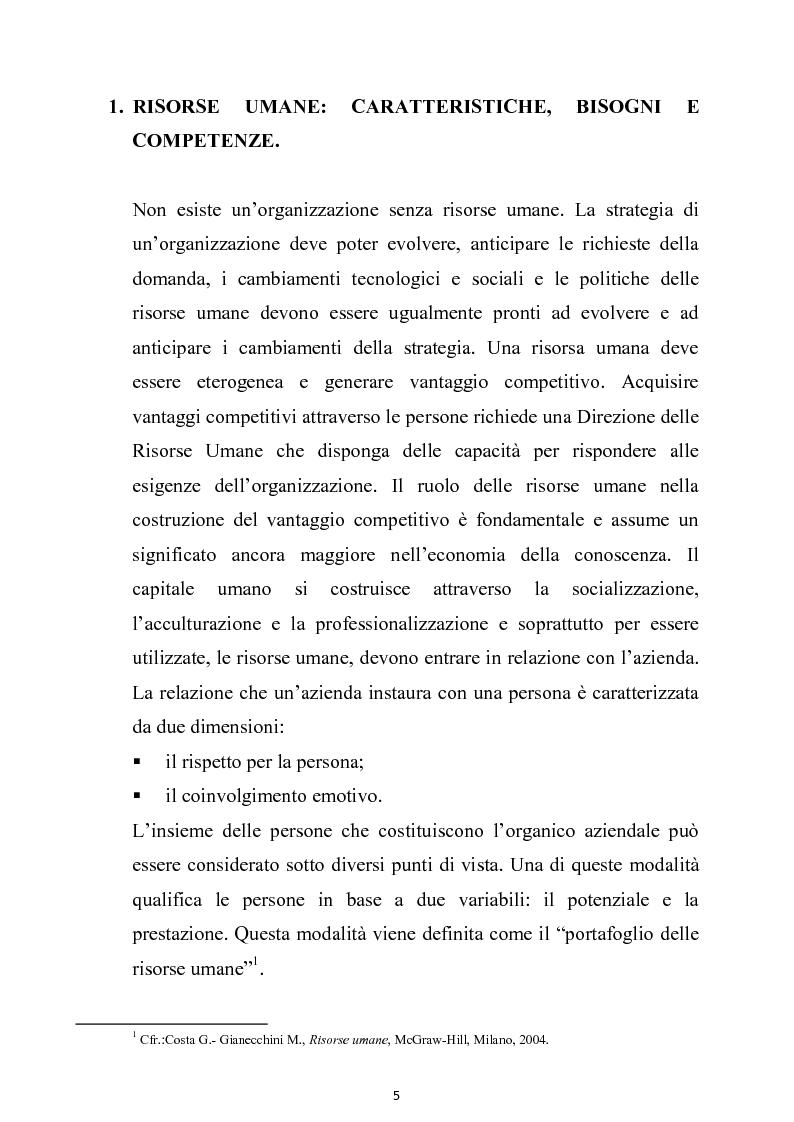 Anteprima della tesi: La gestione delle risorse umane nell'azienda autonoma delle Terme di Sciacca, Pagina 4