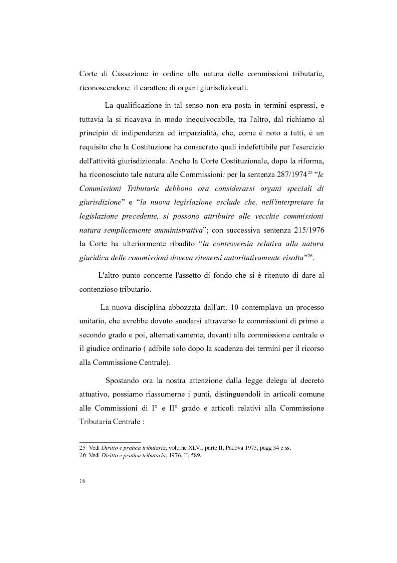 Anteprima della tesi: Il processo tributario: in particolare il Giudice Tributario., Pagina 14