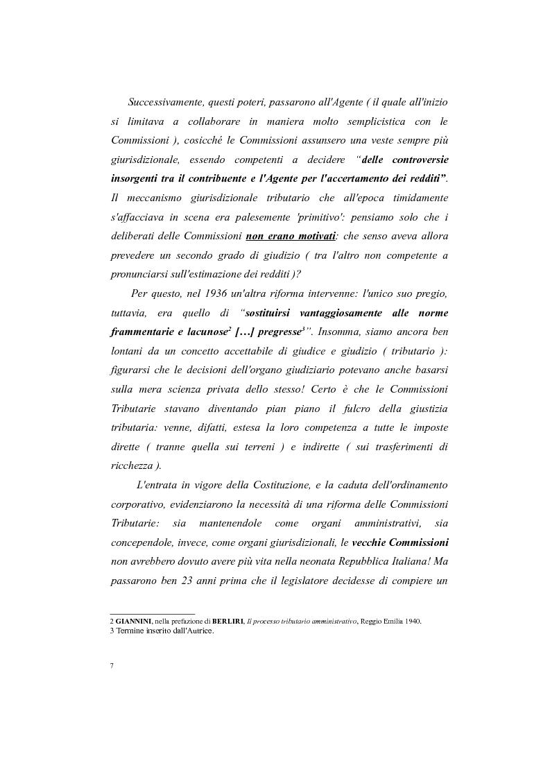 Anteprima della tesi: Il processo tributario: in particolare il Giudice Tributario., Pagina 3