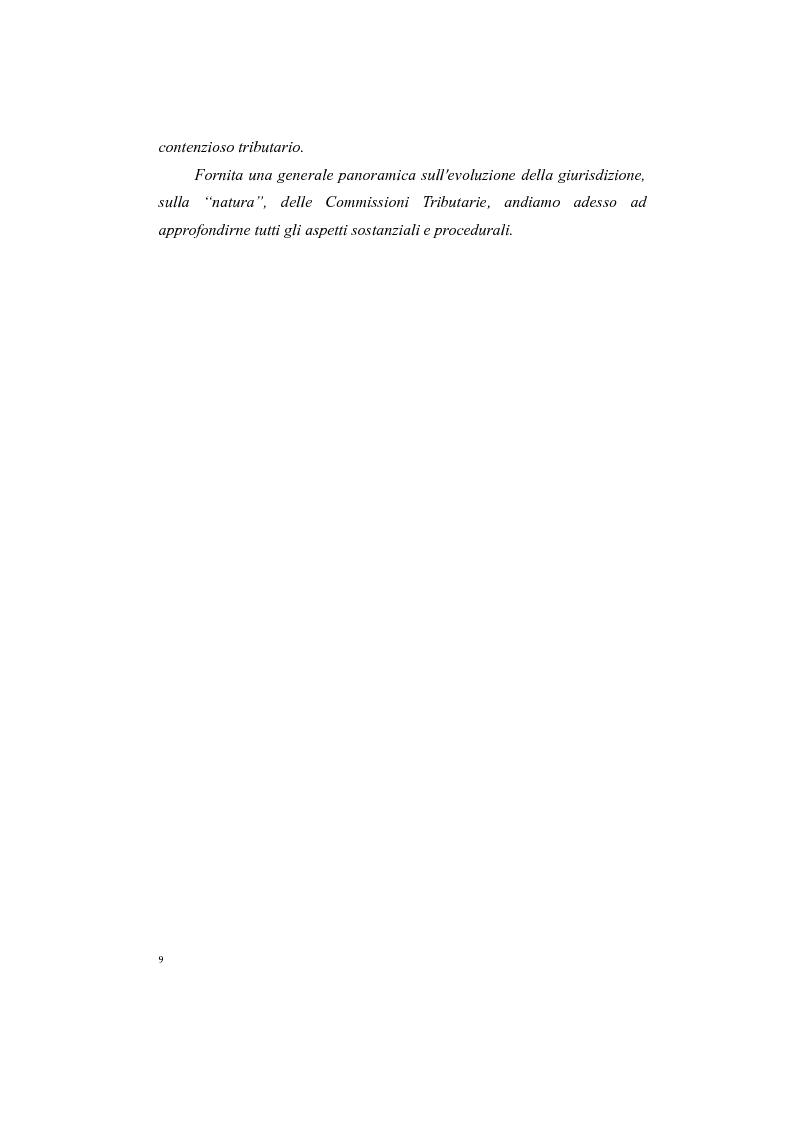 Anteprima della tesi: Il processo tributario: in particolare il Giudice Tributario., Pagina 5