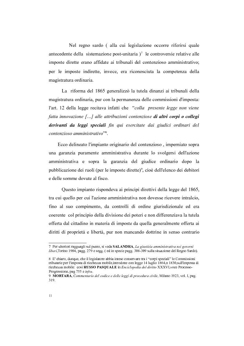 Anteprima della tesi: Il processo tributario: in particolare il Giudice Tributario., Pagina 7