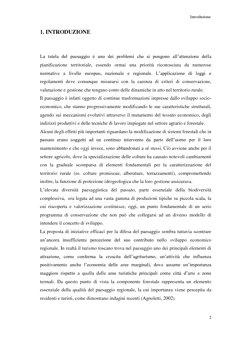 Anteprima della tesi: Le risorse paesaggistiche della Fattoria di Montepaldi - analisi storica e proposte di gestione, Pagina 2