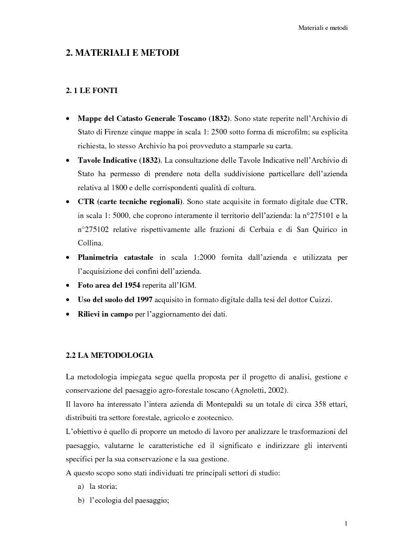 Anteprima della tesi: Le risorse paesaggistiche della Fattoria di Montepaldi - analisi storica e proposte di gestione, Pagina 4