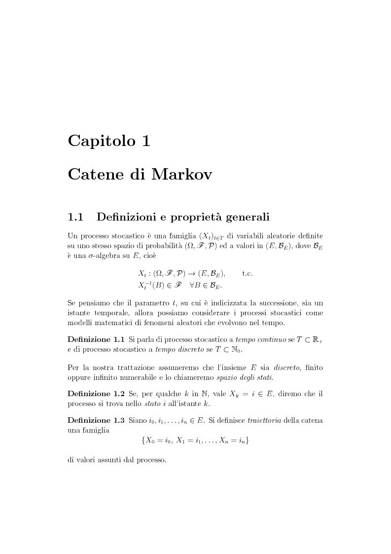 Anteprima della tesi: Catene di Markov e processi epidemici stocastici, Pagina 2