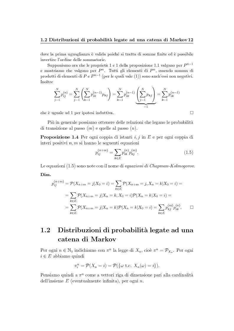 Anteprima della tesi: Catene di Markov e processi epidemici stocastici, Pagina 6